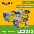 Plavetink  комплект из 3 предметов  совместимый картридж с чернилами для брата LC3213 XL DCP-J772DW DCP-J774DW MFC-J890DW MFC-J895DW полный чернильный картридж