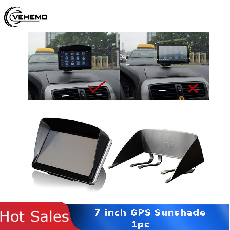 7 Inch Car GPS Sun Shade Sunshade Shield Visor Anti Glare Universal Accessory  Black Car GPS Navigator cover  1pc GPS Cover