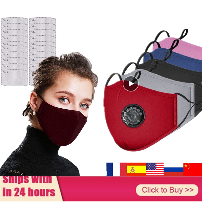 Mascarillas 95% Filtered Cotton Breath Cotton Mouth Masks Cloth Activated Carbon Filter Respira