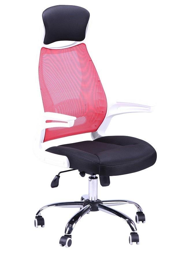 Office Armchair RICARD, White, Gas, Tilt, Network Mesh Fabric Black