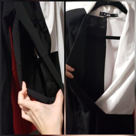 Women Elegant Fashion Office Lady Work Wear Stylish Party Dress Two Tone Metallic Button Midi Bodycon Dress photo review