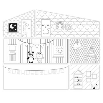the dolls house Doll House Accessories Lundby  Accessories for House wallpaper for children toys for kids game furniture dolls doll houses furniture for doll houses bed for dolls accessories