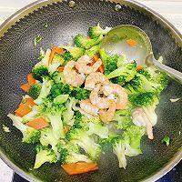 低卡健康的减肥餐 蒜蓉西兰花炒虾仁的做法图解10