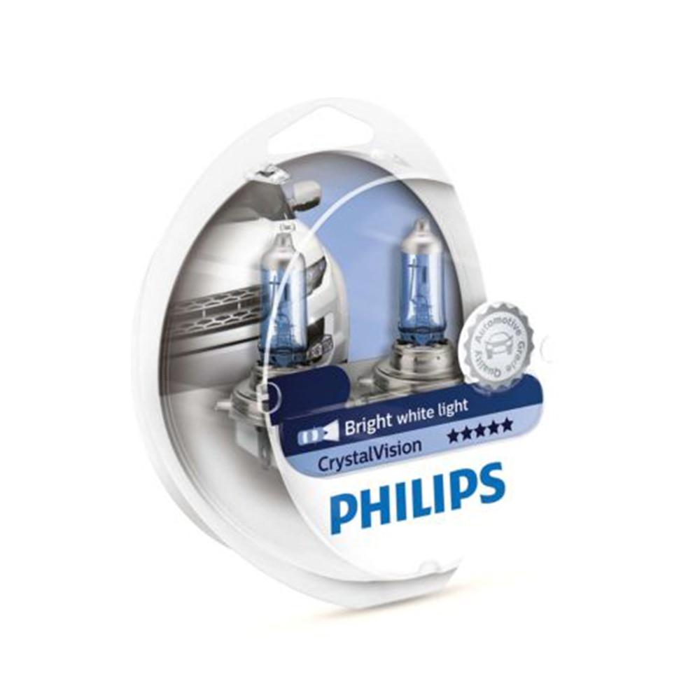 Philips H11 12V 55W Crystal vision 4300K Halogen lamp bright white light Car lamp stylish appearance UV resistant couple