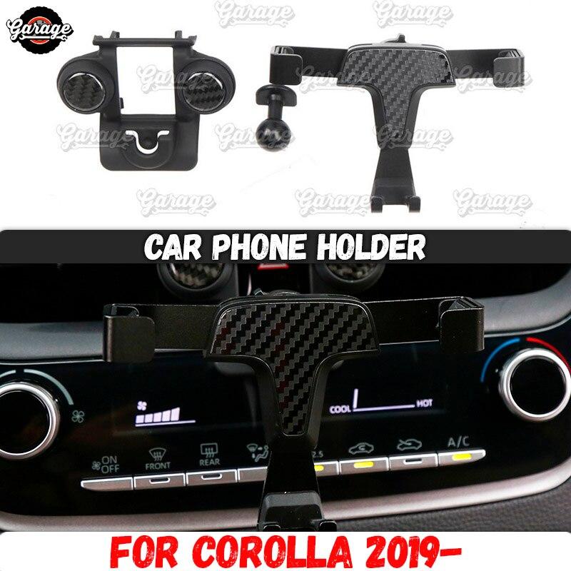 Titular do telefone do carro caso para toyota corolla 2019-liga de alumínio 1 conjunto decoração estilo do carro acessórios interior telefone