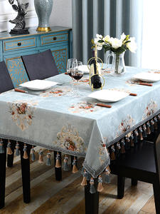 Luxury Tablecloth Rectangular Wedding-Banquet European-Table Runner Embroidered