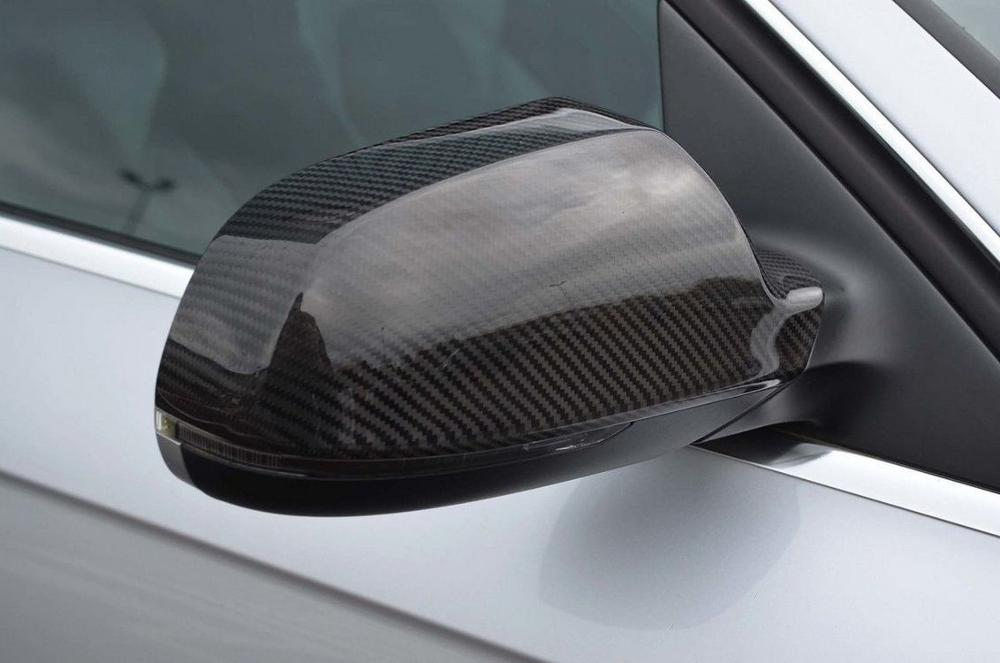 Mirror Cover Real Carbon Fiber Mirror Cover Audi A3 8P Mirror Cover Carbon Fiber 2 pcs Left-Right 2004-2012 enlarge