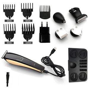 Image 5 - 5 1 で電気毛トリマープロステンレス鋼髪切断機usb充電式シェービングかみそり男