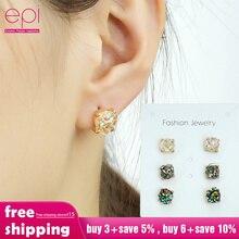 EPI 6 pcs /set Crystal Earrings Set Women Jewelry Accessories Piercing Ball Stud Earring kit Bijouteria brincos epi ball joint kit king pin we351004