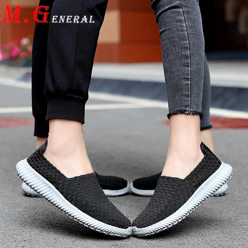 Dokuma koşu ayakkabıları erkekler el yapımı Sneakers erkek büyük boy ayakkabı erkek yaz spor ayakkabı Slip-on hafif açık loafer'lar V7