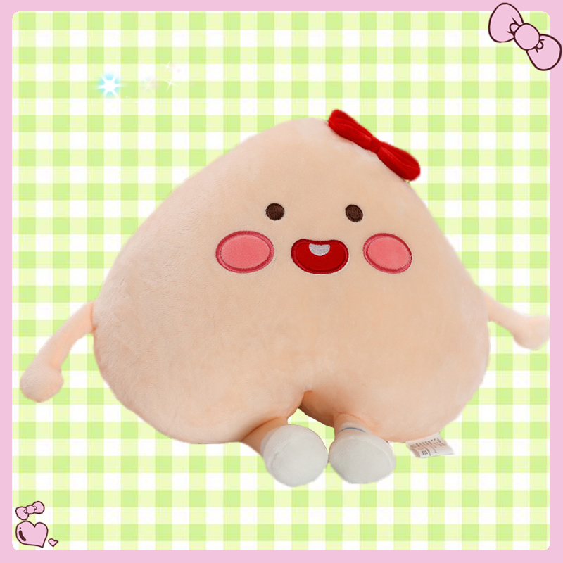 Fruit Pink Peach Design Plush Doll Soft Toy Stuffed Pillow Cushion Birthday Gift