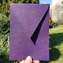 50 pcs/lot Gilda Purple Envelopes 140 mmX200mm Patterned Paper Envelopes Card Postcard Envelope Colorful Greeting Cards