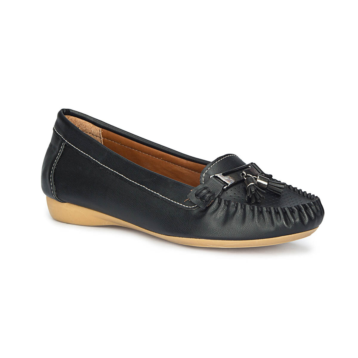 FLO 71.157232.Z Black Women Loafer Shoes Polaris
