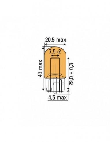 JBM 52863 LAMP OBN WEDGE 21W 12V T20 AMBER