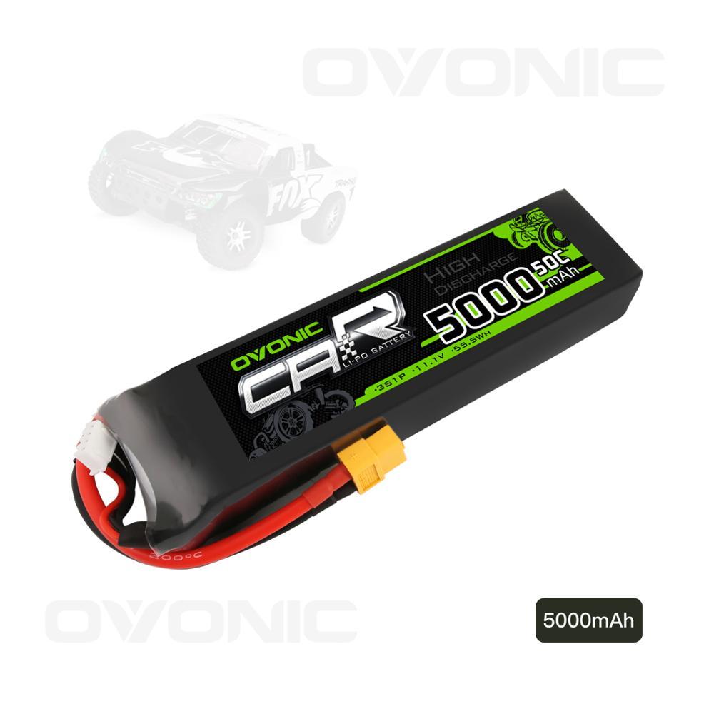 OVONIC-batería Lipo con enchufe XT60 y Trx Para Slash/e-revo/UDR/x-maxx, 5000mAh, 11,1 V, 3S, 50C