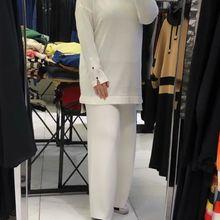 Butik Melike damski guzik szczegółowy kombinezon na nadgarstek nowy nabytek hidżab abaya moda muzułmańska zestaw islamska odzież modlitwa turcja