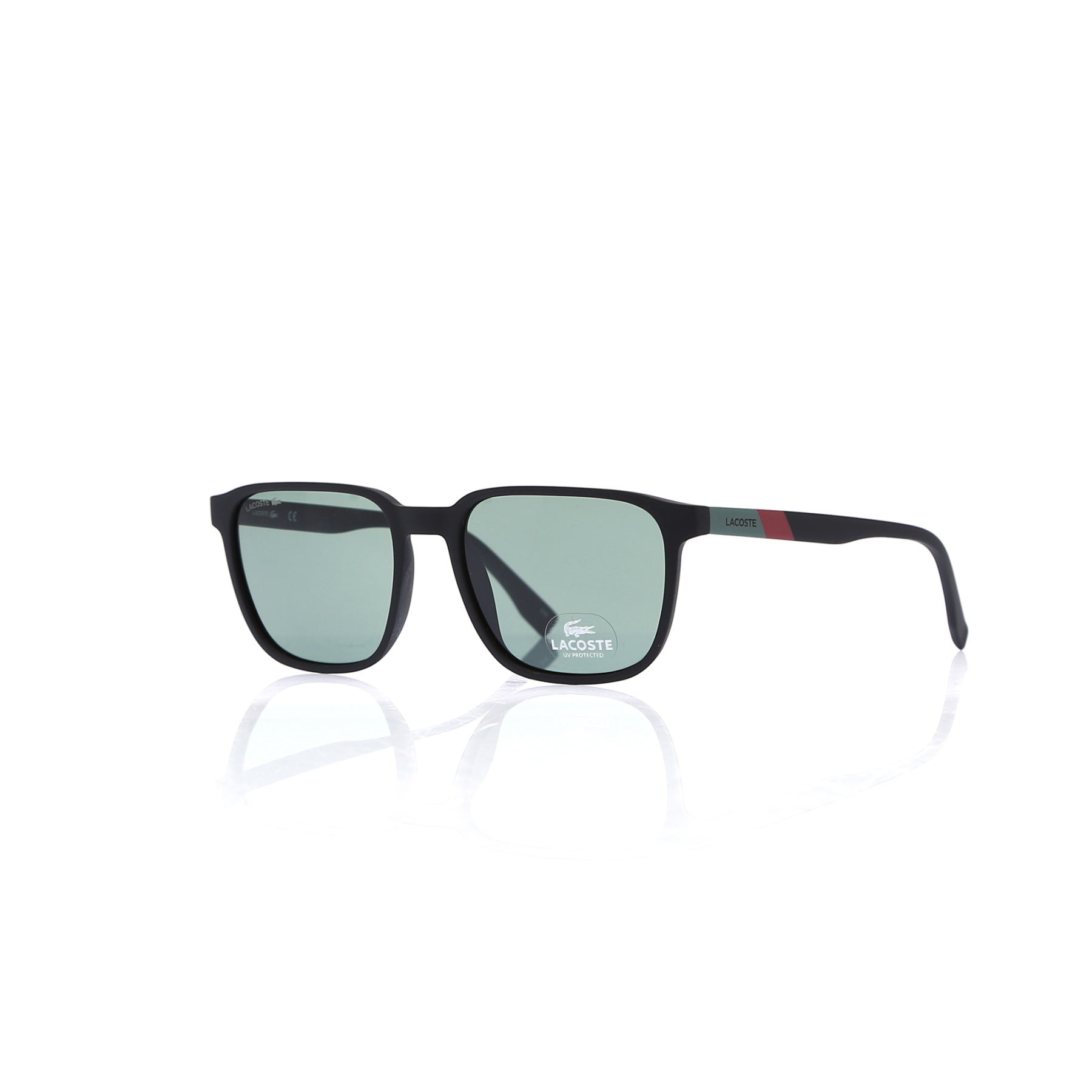 Men's sunglasses lcc 873 001 bone black organic square square 55-18-145 lacoste