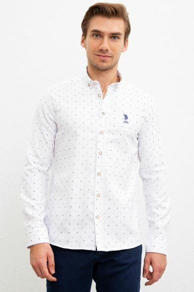U.S. POLO ASSN. Printed Slim Shirt