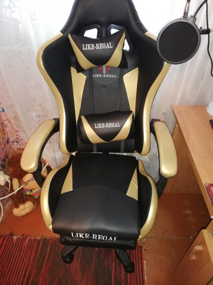 LIKE REGAL New arrival racing Synthetic leather game WCG chair-in Office Chairs from Furniture on AliExpress