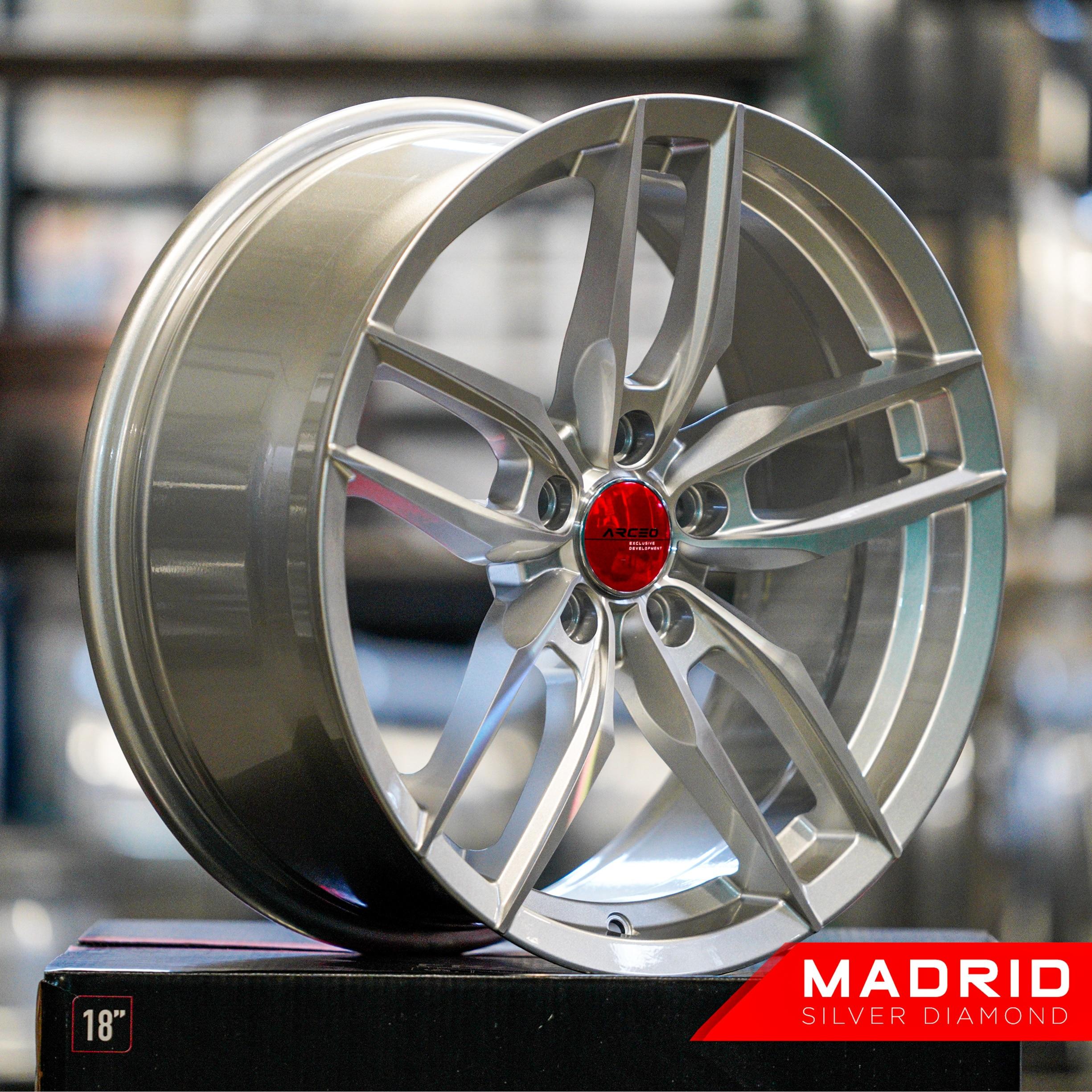 18''5X114. 3 ARCEO Madrid Aftermarket Ruota Cerchi 1pcs per Honda, Toyota ARC-18126