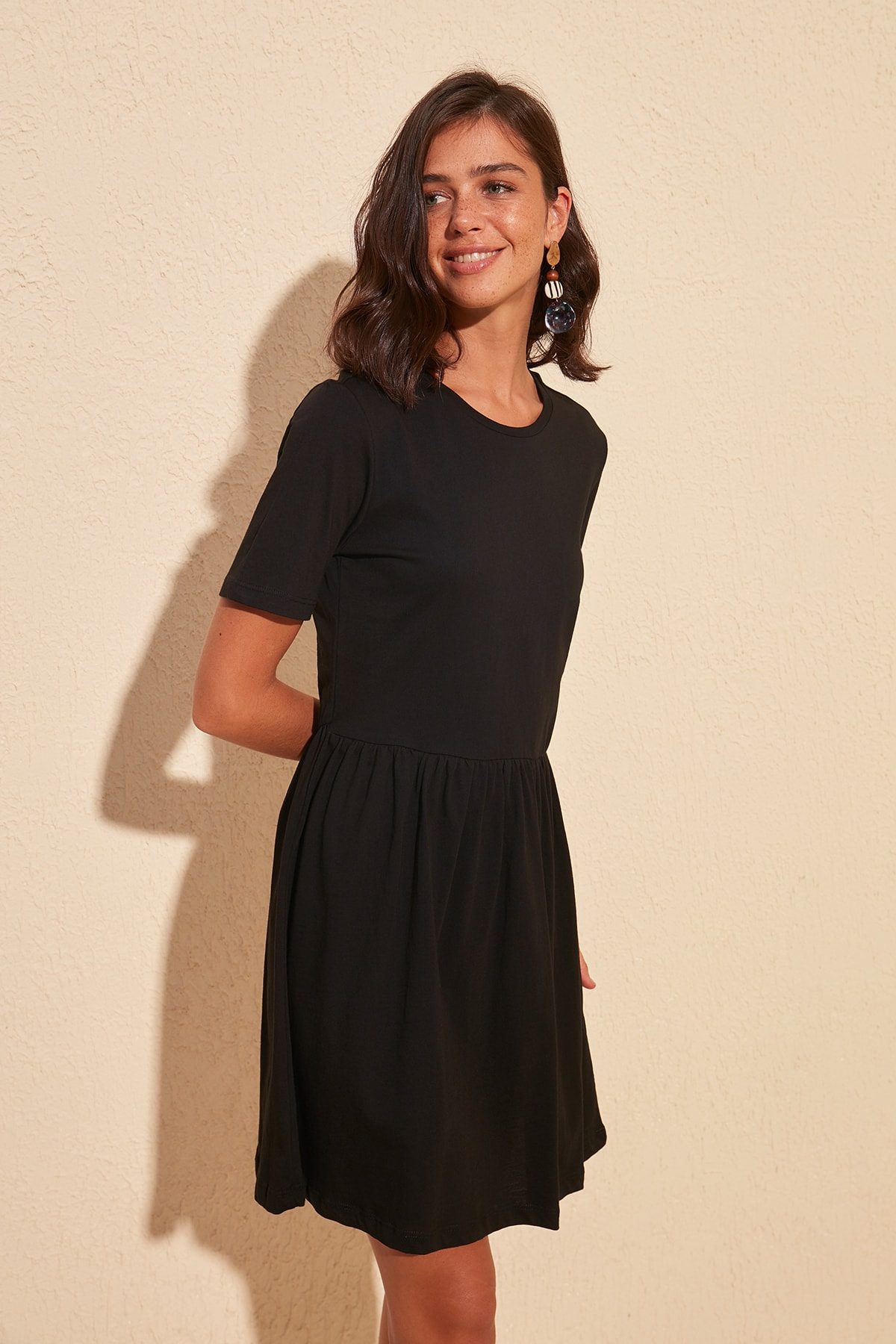 Trendyol Bike Collar Knitted Dress TWOSS20EL0749