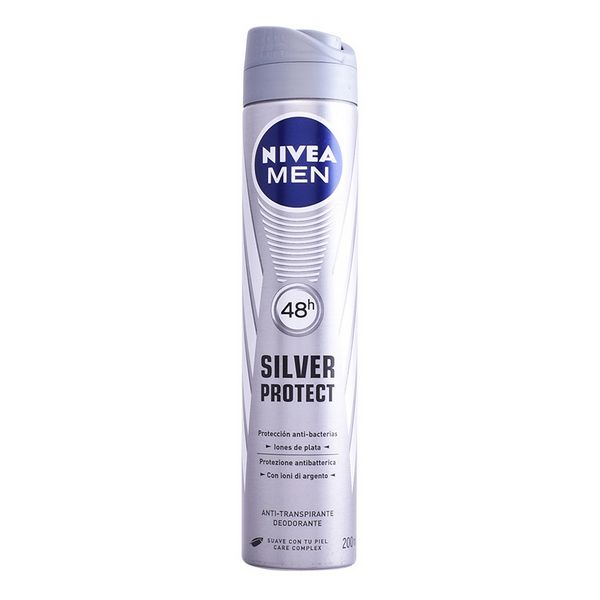 Spray Deodorant Men Silver Protect Nivea (200 Ml)
