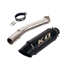 Motorcycle Exhaust Muffler With DB Killer Tip Middle Connect Link Pipe for YAMAHA YZF R6 1998-2005