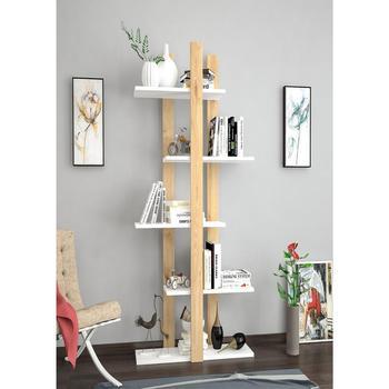 цена Shelf&Shelf MADE IN TURKEY Modern BookShelf Floor 3 Colors Living Room Wood Wall Book Holder Organizer Bookshelf Rack Bookcase онлайн в 2017 году