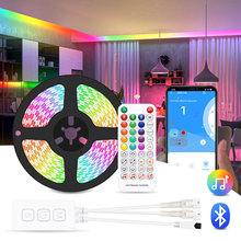 RGBIC LED Strip Light Bluetooth & Remote Control, WS2811 Dreamcolor Music Sync Led Lights for Room, Bedroom,Christmas Decoration