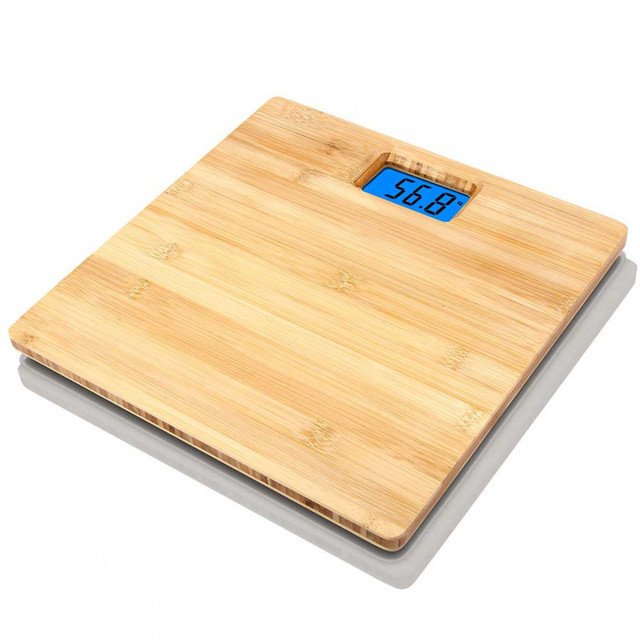Electronic Bathroom scale Bamboo Eco-friendly 7hSevenOn Home 1