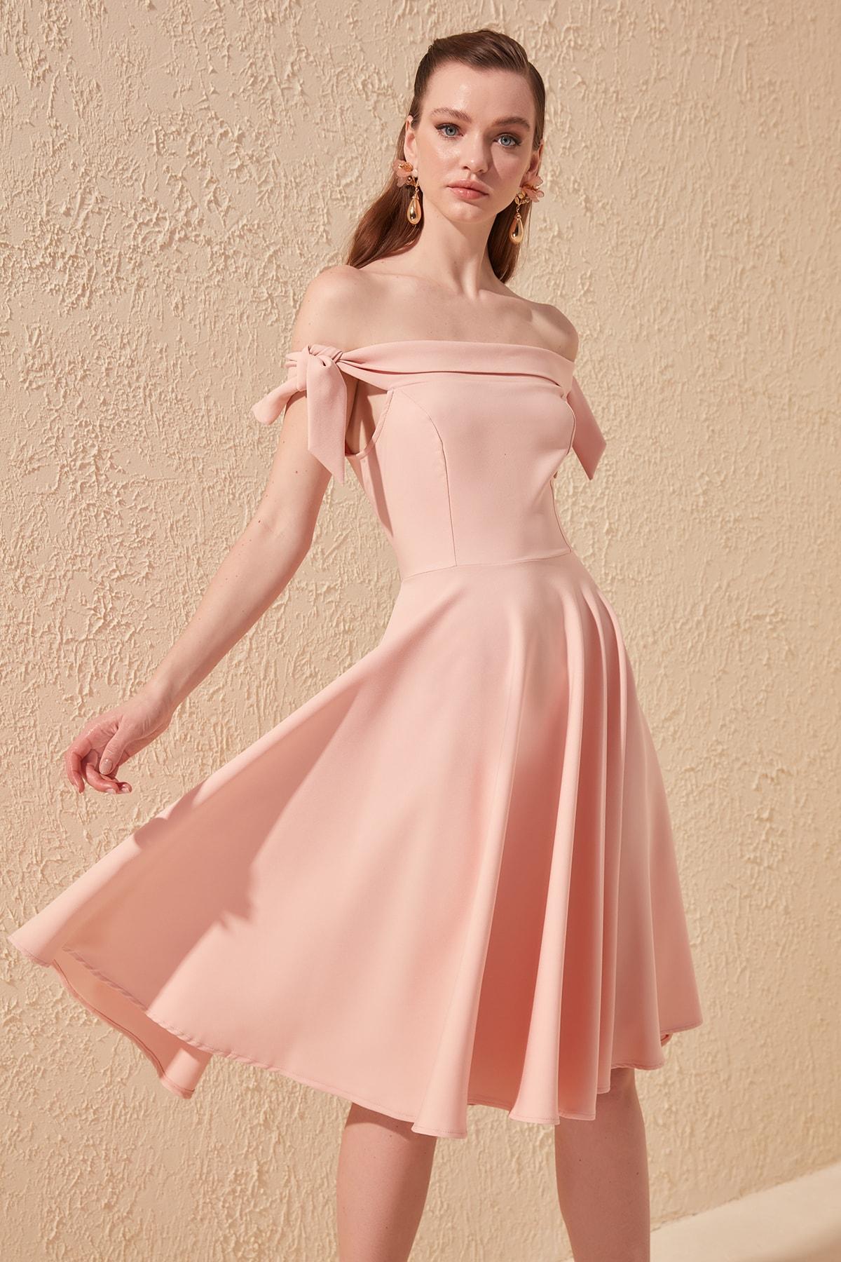 Trendyol Lacing Detail Dress TPRSS20EL1172