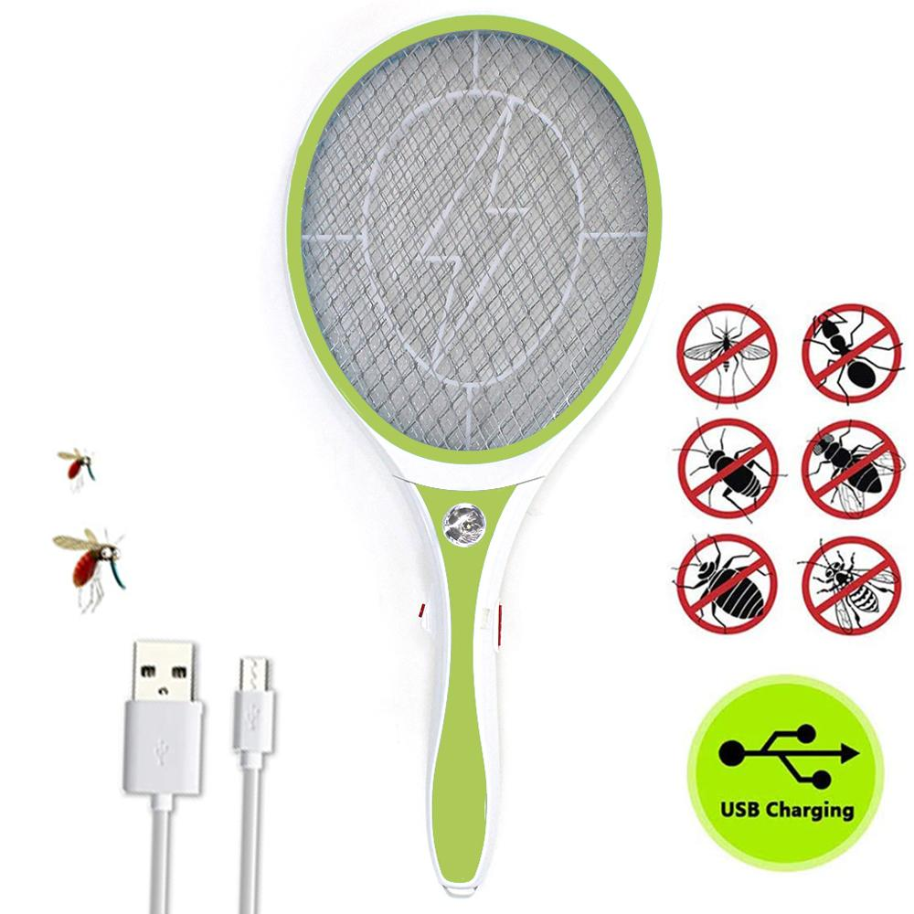 Nasharia Racket Mosquito Rechargeable, pest insect killer repellent, electric Mosquito Flypaper Zapper, Racket Mosquito