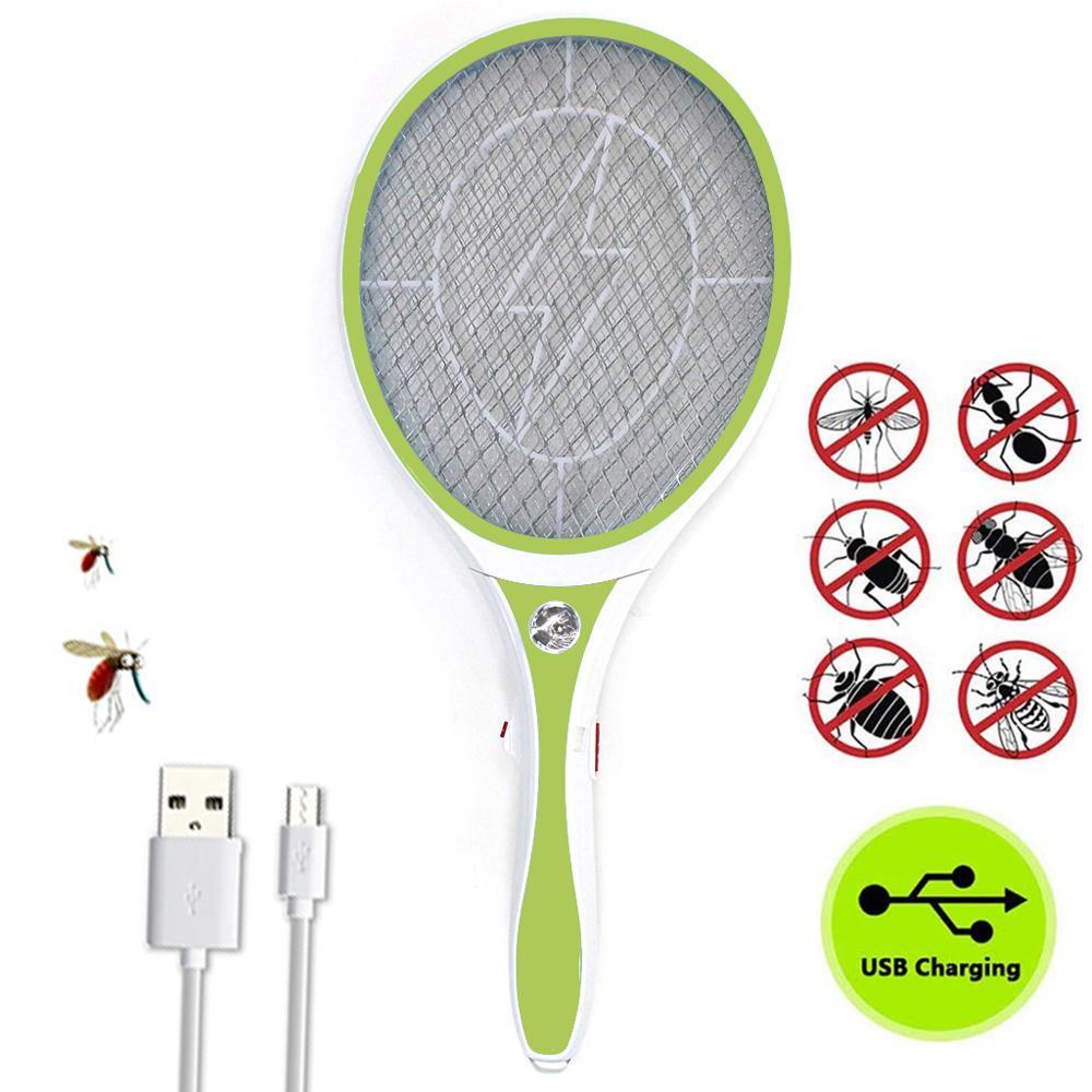 Nasharia Racket Mosquito Rechargeable,…