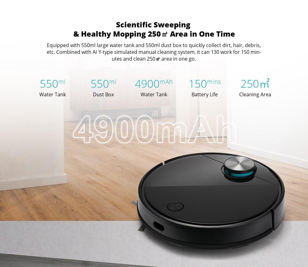 VIOMI V3 Robot Vacuum Mopping, 2600Pa, Quiet, Self-Charging Robotic Vacuum Cleaner, Cleans Hard Floors to Medium-Pile Carpets6