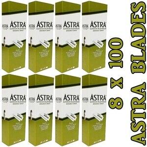Бритвенные лезвия Astra с двойным лезвием, 8 упаковок/800 шт.