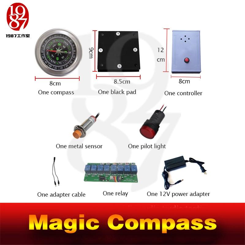 magic compass adventurer escape room game device prop forTakagism get hidden clues via compass to run out real life room escape