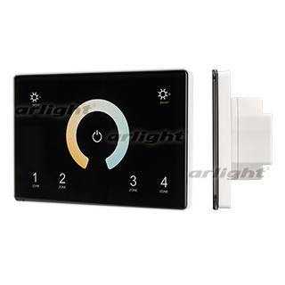 028401 Panel Sens SMART-P81-MIX Black (230 V, 4, 2.4G) ARLIGHT 1-pc