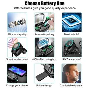 Image 2 - TWS 5.0 Bluetooth écouteur 4000mAh LED affichage sans fil Bluetooth écouteurs IPX7 étanche écouteurs stéréo casques avec micro