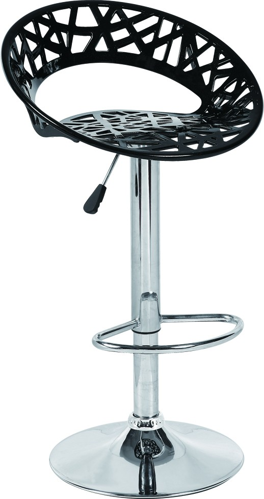 Stool ROUND, Chrome, Black Abs