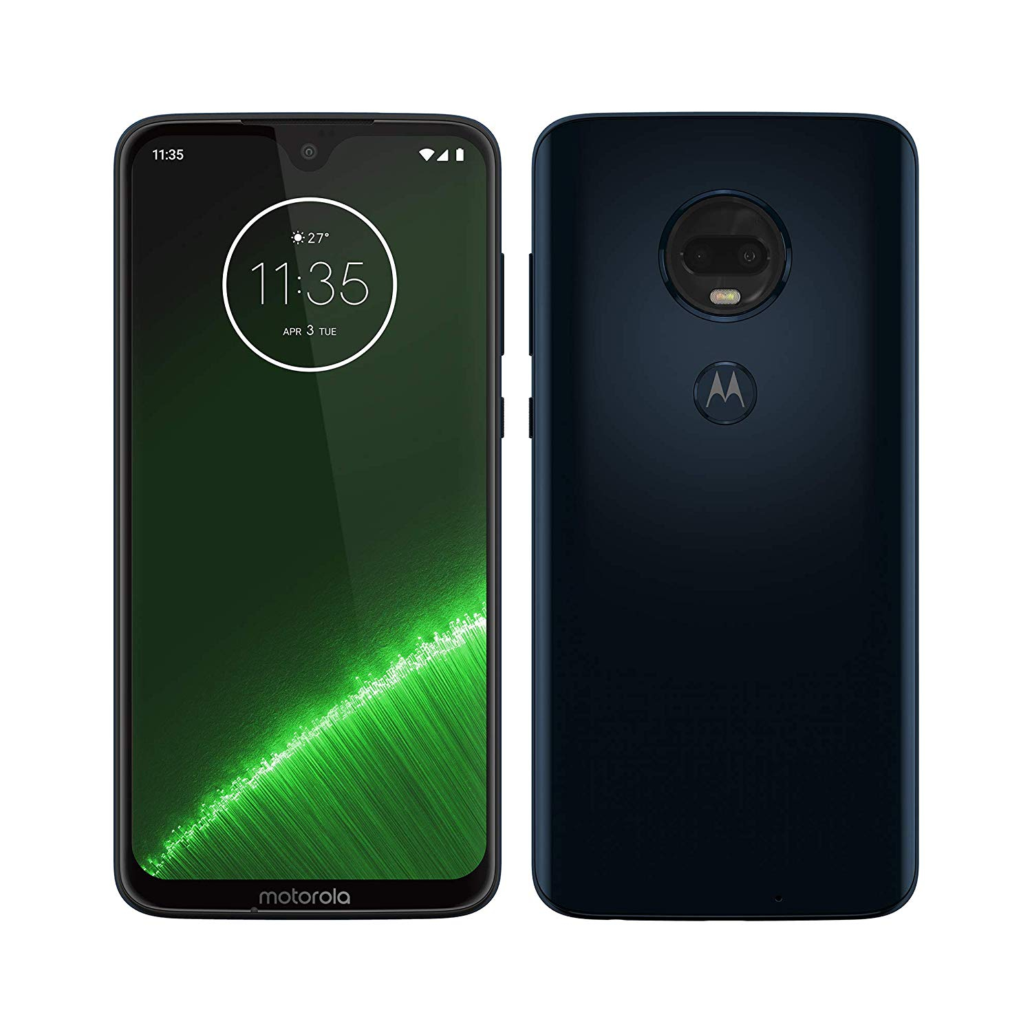Motorola Moto G7 Plus, Color Blue (Blue), Dual SIM, Band 4G/LTE/WiFi, Internal 6 4GB De Memoria, 4GB Ram, Pantal