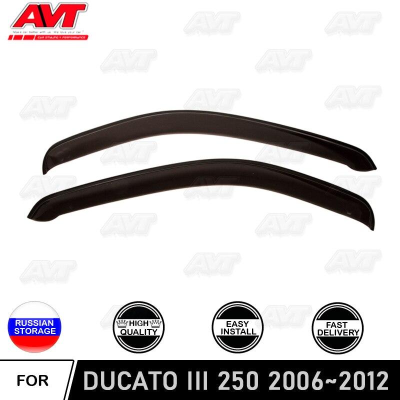 FIAT DUCATO 2006-2019 WIND DEFLECTORS VENT RAIN GUARD-WINDOWS VISORS 2 PCS