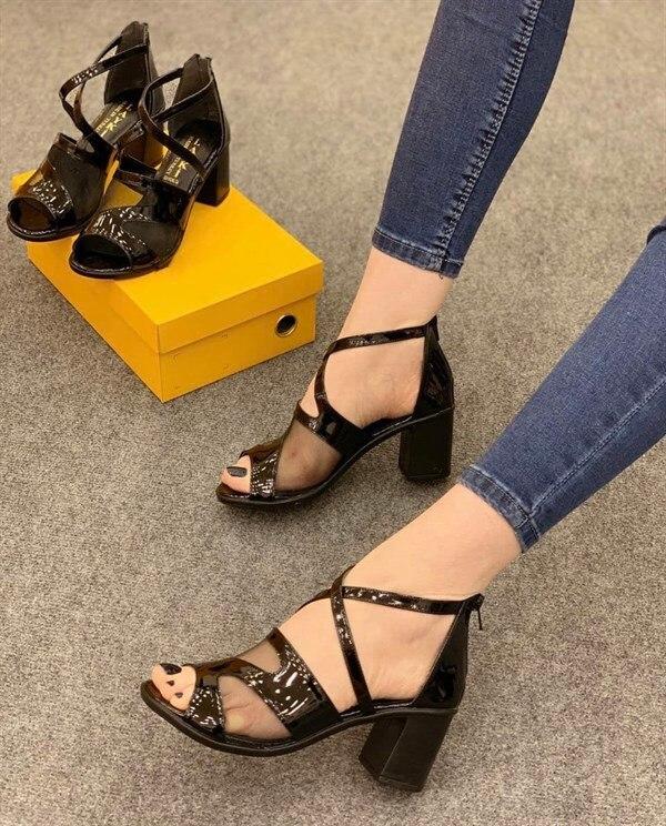 Elexus Women Sandals 2033 Tokyo New Season 2020 Summer Open Toe Comfortable Luxury Non-leather Women 5 Cm Heels Sandals