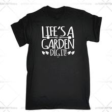 Забавная Мужская футболка модная одежда футболки lifes a garden