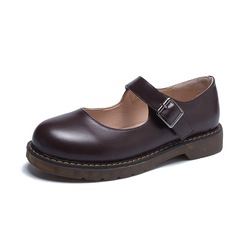 Leather Shoes Woman Summer Mary Jane Shoes One Buckle cosplay costumes Shoe Woman Jk Uniform Shoe Soft Sister Shoes
