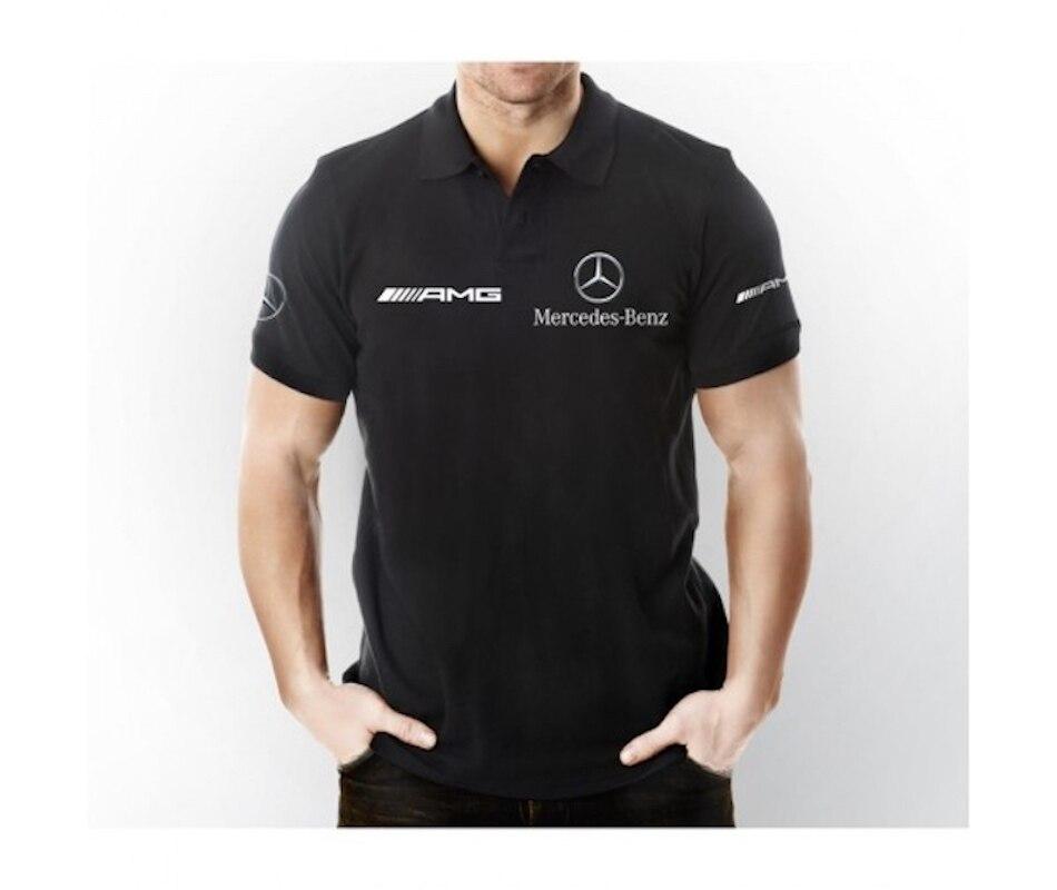 Футболка с коротким рукавом и воротником-поло черного цвета AMG Mercedes