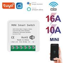 Mini Tuya Wifi DIY Switch Unterstützt 16/10A 2 Weg Control Smart Home Automation Modul Arbeitet mit Alexa Google hause Smart Leben App