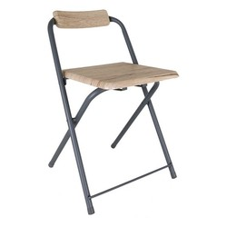 Krzesło ciemne drewno Confortime (32X32x43 cm)| |   -