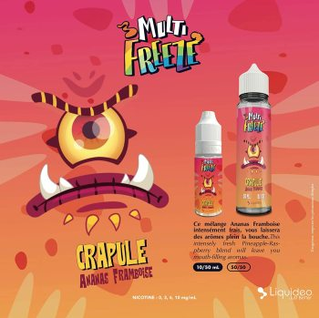 E-liquide Multi gel-crapulte, 50ML, sans nicotine, 50vg/50pg, cigarettes électroniques, Vape