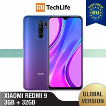 Versão global xiaomi redmi 9 32gb rom 3gb ram (novo/selado) redmi9, redmi9 32, smartphone, celular, telefone
