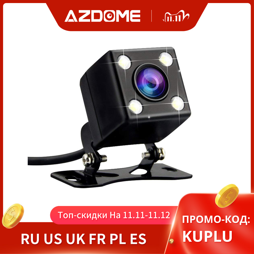 AZDOME Car Rear View Camera 2 5mm  4Pin  Jack Port Video Port With LED Night Vision For GS63H M06 M02 A305 dash cam Waterproof